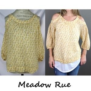 Anthro Pyracantha Floral Blouse By Meadow Rue